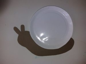 Σαλιγκάρι με χάρτινο πιάτο