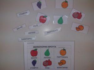 Πίνακας αναφοράς φρούτα φθινοπώρου