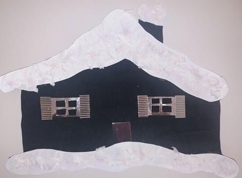 χιονισμένο σπίτι