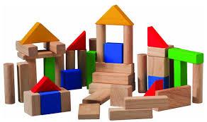η γωνιά του οικοδομικού υλικού στο ειδικό ή γενικό νηπιαγωγείο με τμήμα ένταξης