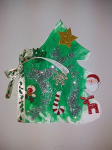 χριστουγεννιάτικη κάρτα δέντρο, νηπιαγωγείο