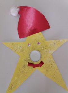 χριστουγεννιάτικη χειροτεχνία, κηροπήγιο, Χριστούγεννα,νηπιαγωγείο